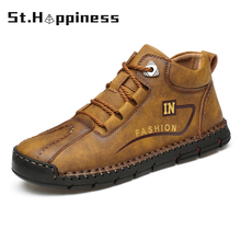 Men's Boots Hand-Stitching Loafers Breathable Big-Size Casual New Non-Slip Spring 48