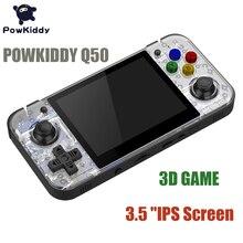 Powkiddy q50 чехол для телефона в виде ретро-игровой консоли RG350 64-разрядный портативные игровые консоли PS1 симулятор 3,5 дюймов ips экран 2500+ открытая система 3D игры