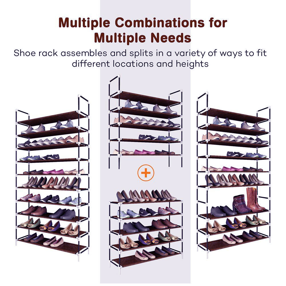 Rack-Stand Shelf-Holder Storage-Organizer Shoes Closet Warehouse 5 Fabric Stackable 5/10-Tier