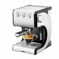 Domestic appliances 1.5 liter coffee machine small Italian semi automatic steam milk and foam machineD389