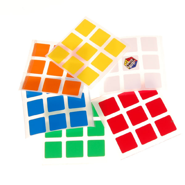 2019 New Arrive 6 Color Sticker For 3x3x3 Magic Cube Puzzle Cubes