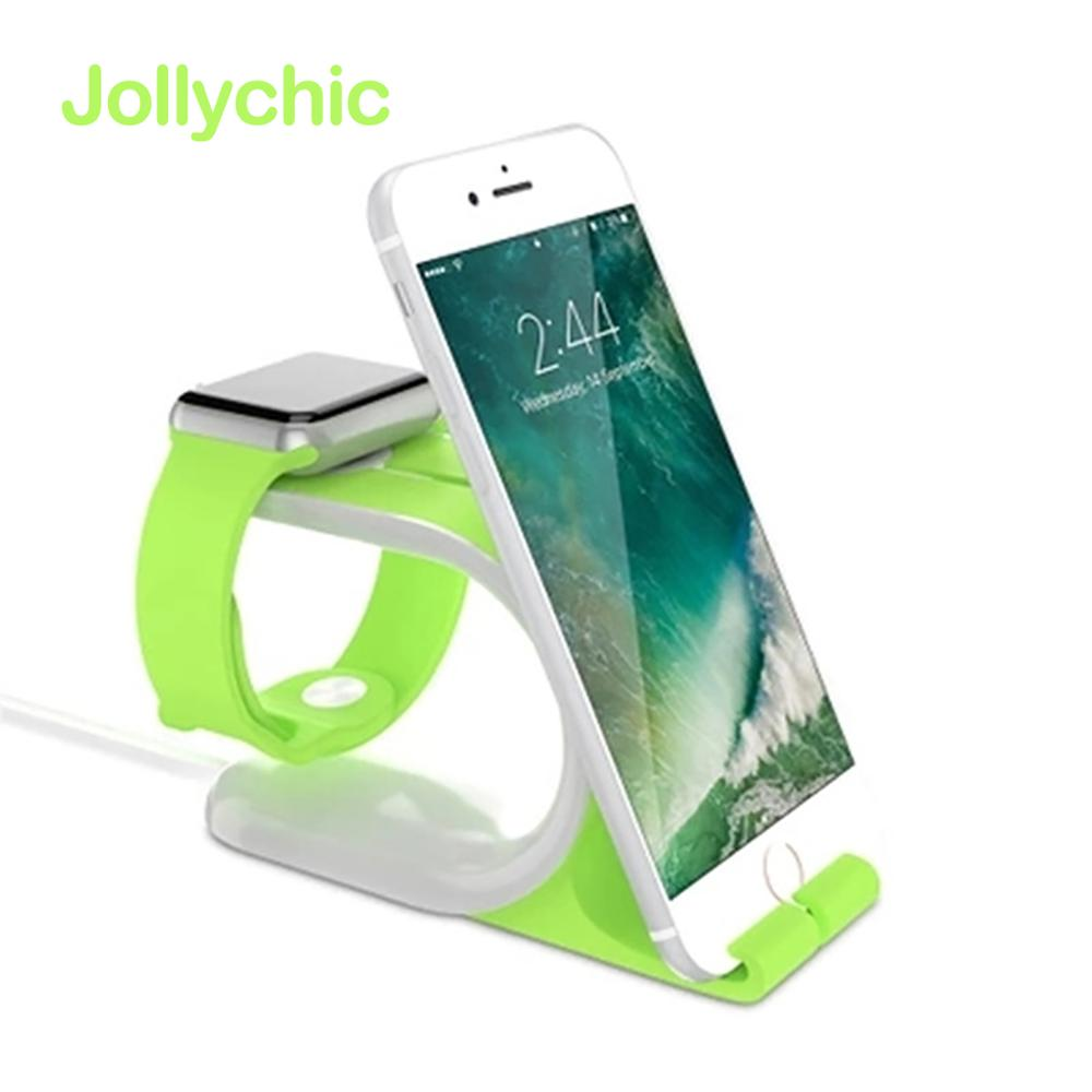 for Apple Watch 4 3 2 1 Band 38mm 42mm 40mm 44mm 2 in 1 Multi Stand Docking Station Charger Holder