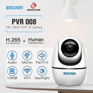 Image 2 - Новинка, беспроводная PTZ камера ESCAM PVR008 с функцией автослежения, 2 МП, 1080P, Wi Fi, IP камера P6SLite