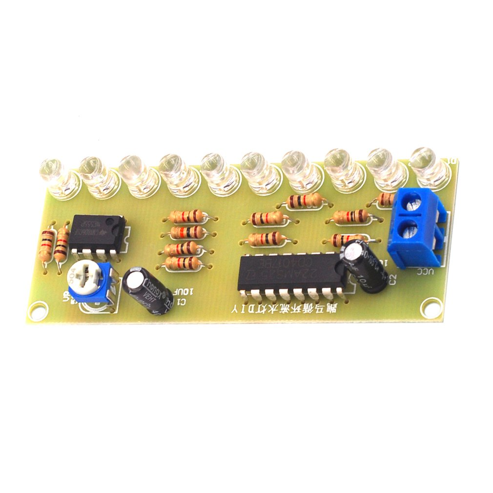 NE555 LED Horse Racing Circulating Water Lamp Kit PCB Circuit Board Electronic DIY Production Module Parts