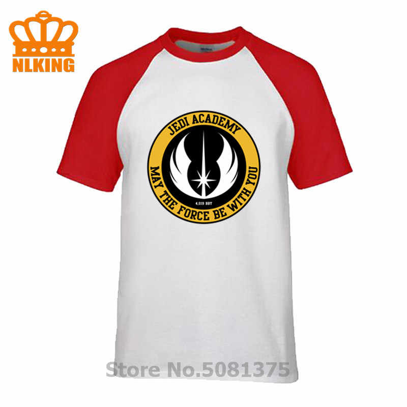 Crest JEDI Academy Kan de Kracht worden met u T-Shirts Mannen Star Wars Yoda Laatste Jedi Battle T Shirts Mannen zomer Casual Katoenen Tops