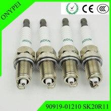 4 Pcs Sk20r 11 90919 01210 Nuovo Sk20r11 Iridium Candele per Toyota Scion Lexus 9091901210 Sk20r 11 90919 01210