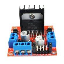 Red Board Module Motor Drive Controller Board Module L298N Double H Bridge Dc For Arduino L298 Red Board Module l298n driver board module l298 stepper motor smart car robot breadboard peltier high power