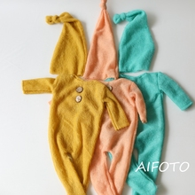 Get more info on the 2019 New Set  Outfit Boy Girls Clothes Overalls Long Sheeve Rompers Shoot Props Newborn Props for Baby Photography Accessories