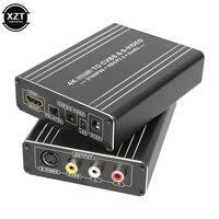 Hdmi-Compatibel 2.0b Naar Av S-video Adapter 4K 60Hz 576i 480i Fhd Cvbs Video Audio 3 Rca converter Hdcp2.2 1080P 21660P Ntsc Pal