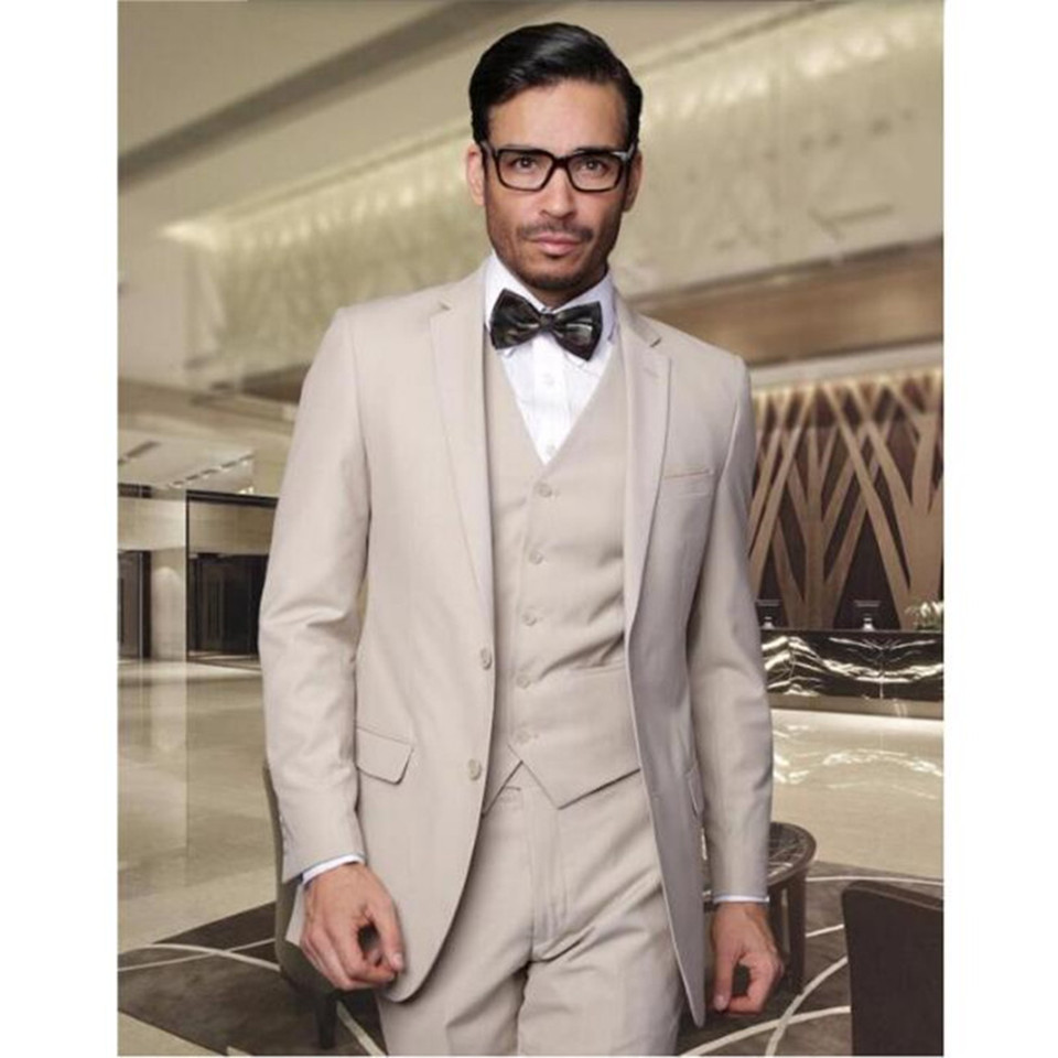 Newest Style Groom Tuxedos High Quality Men Suit Prom Tuxedos Dinner Mens Suits(Jacket+Pants+Vest) Costume Homme костюм