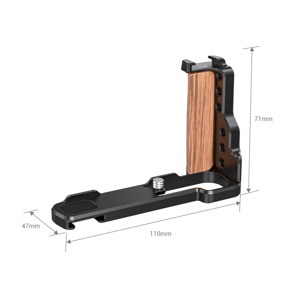 aluminum alloy SmallRig RX100 L Bracket Plate for Sony RX100 III/IV/V(VA)/V Aluminum Alloy Plate With L-Shaped Wooden Grip with Cold Shoe-2438 (3)