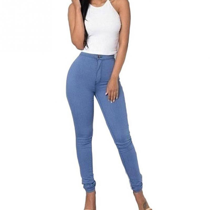 Women Thin section ankle-length Leggings Elasticity Candy-colored skinny   jeans   pencil pants