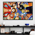 Home Art Mural One Piece Luffy Poster Prints Japanese Classic Anime Canvas Painting Wall Picture Indoor Baby Room Decor Cuadros