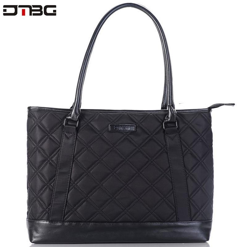 DTBG Women Laptop Handbag Formal Office Business Handbag Waterproof Large Capacity Patchwork Bags High Quality Laptop Bag