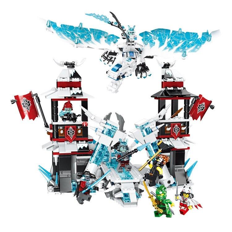 849pcs Ninjaed The Castle of Forsaken Emperor Truck Model Building Blocks Compatible lepining 70678 Ninjagoes Kids Toy Bricks