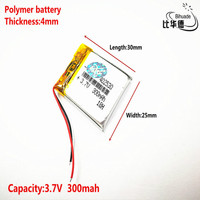 1pcs [SD] 3.7V,300mAH,[402530] Polymer lithium ion / Li-ion battery for TOY,POWER BANK,GPS,mp3,mp4,cell phone,speaker
