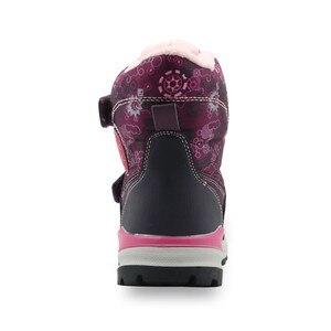 Image 5 - Зимние ботинки для девочек; Детские водонепроницаемые теплые шерстяные ботильоны; Зимние ботинки для снежной погоды, пешего туризма, альпинизма; Уличная спортивная обувь