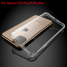 Heavy Duty Protection Case For iPhone 11 Pro Max X XS Four Corner Strengthen Silicon Clear Cover XR