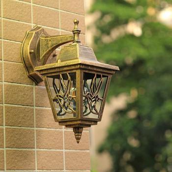 Sprzedaż LED naścienne oświetlenie ogrodowe oświetlenie zewnętrzne kinkiety zewnętrzne kinkiety E27 żarówka Yard Street wodoodporna lampa IP65 żarówki LED AC tanie i dobre opinie CUOSHE Aluminium Pieczenia lily wdd European outdoor waterproof balcony wall light ROHS 85-265 v 2 years Europa Żarówki led