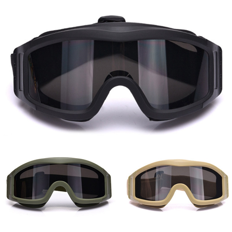 Tactical Army Goggles Military Shooting Sunglasses Army Airsoft Paintball Windproof CS Wargame Combat Glasses with 3 Lens