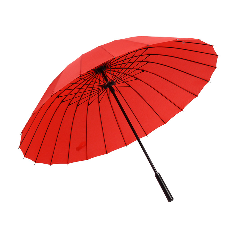 Women <font><b>Umbrella</b></font> Rain Women <font><b>Windproof</b></font> Male Walking Stick <font><b>Umbrellas</b></font> 24K Large Men Leather <font><b>Golf</b></font> Sun Paraguas Colorful Parasol image