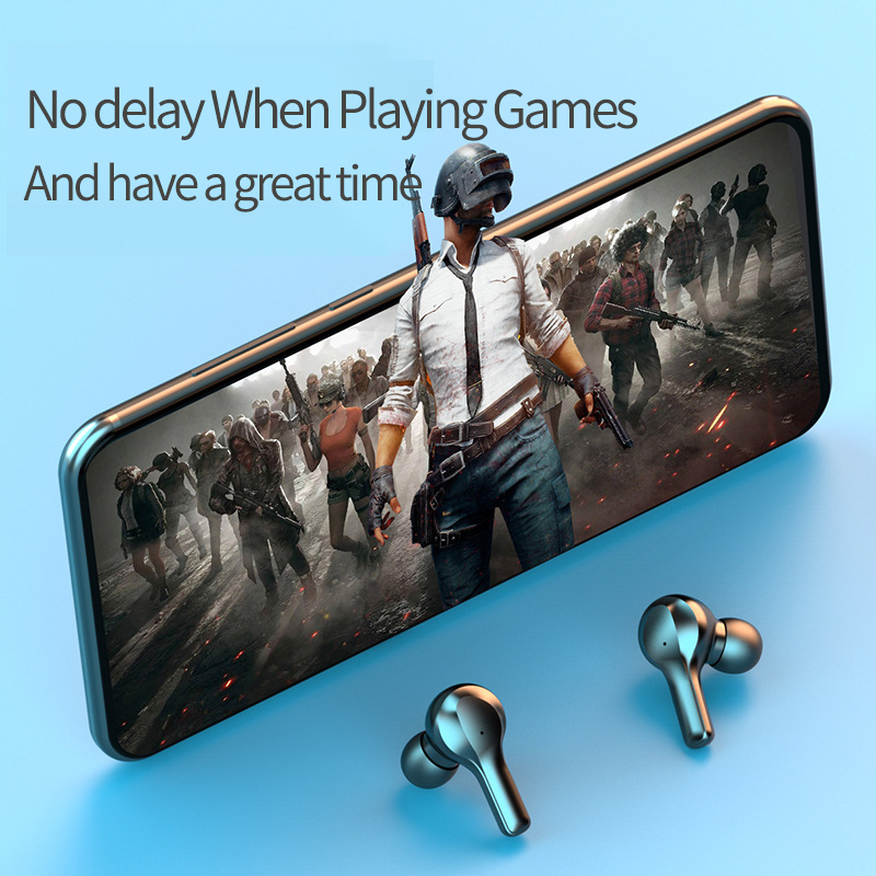 cheapest New Bluetooth Earphones R3 Wireless Headphones  LED TWS with Microphone Earphones Waterproof Noise Cancel Headsets Earbuds