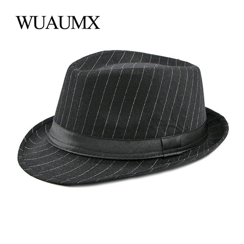 Купить мужская винтажная полосатая шляпа wuaumx фетровая в стиле «джаз»