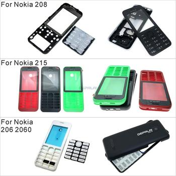 New Full Complete Mobile Phone Housing Cover Case Keypad For Nokia 206 2060 208 215 image