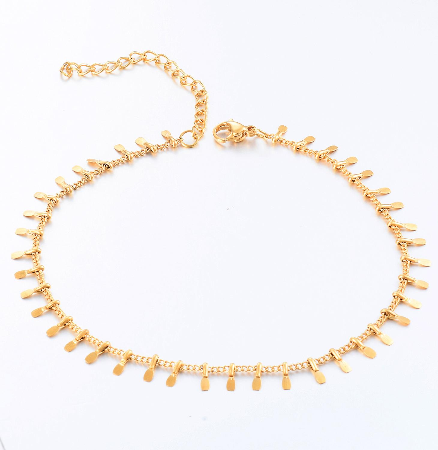 New Stainless Steel Gold Anklet Fashion Personalized High Quality Fashion Jewelry