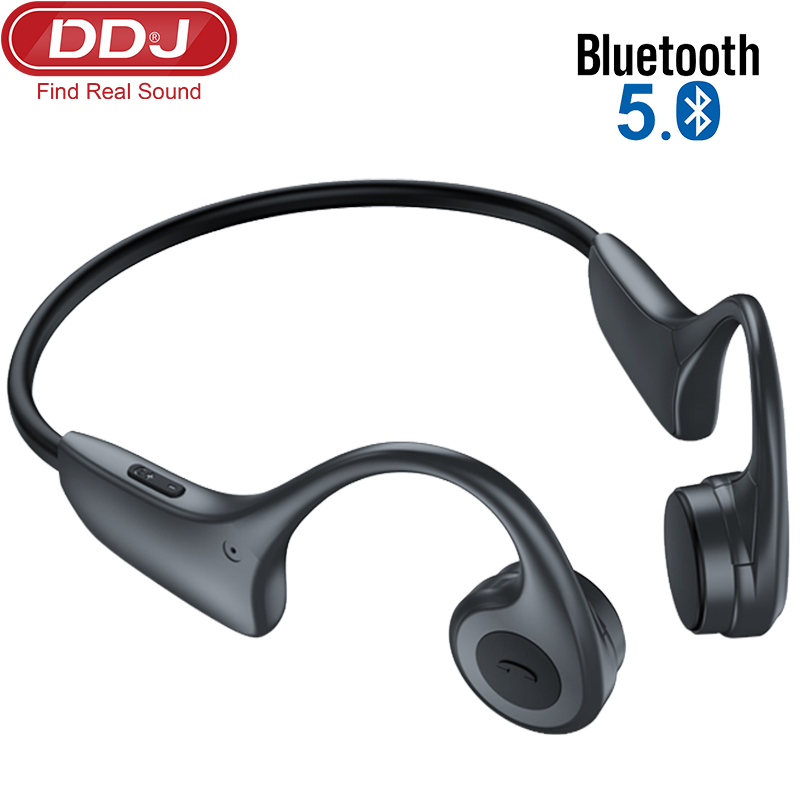 DDJ Bone Conduction Wireless Headphones Auriculares Bluetooth Earbuds Wireless Earphone Black With Microphone Speaker For Xiaomi