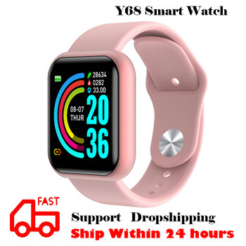 цена на Y68 Smart Watch Women Men Blood Pressure Fitness Tracker Waterproof Smart Bracelet Heart Rate Monitor Pedometer For Android IOS