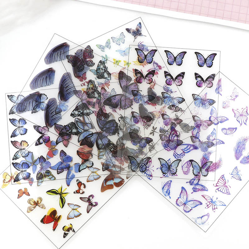 5pcs Butterfly Flap Transparent Material With Use Of Epoxy Mold Tools Filling Insert Stickers For DIY Jewelry Making Accessories