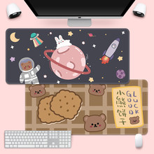 Cute Mouse Pad Super -Creative INS -Tide Large Game Computer Keyboard Office LongTable Mat Kawaii Desk forTeen Girls for Bedroom