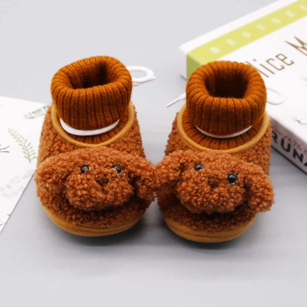 Infantes niñas invierno Zapatos bebé recién nacido botines Kawaii Pink Puppy Soft soed Shoe botas de algodón First Walkers Dress Shoes Tenis