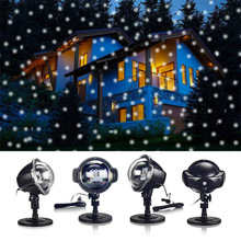 Led Outdoor Waterproof Lawn Laser Light Snow Light Snowflake Projection Lamp Christmas Halloween Day Projection Lamp