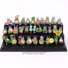 Mój sąsiad Totoro Kawaii Mini PVC figurki Brinquedo Pot lalki dekoracyjne zabawki 30 sztuk/zestaw