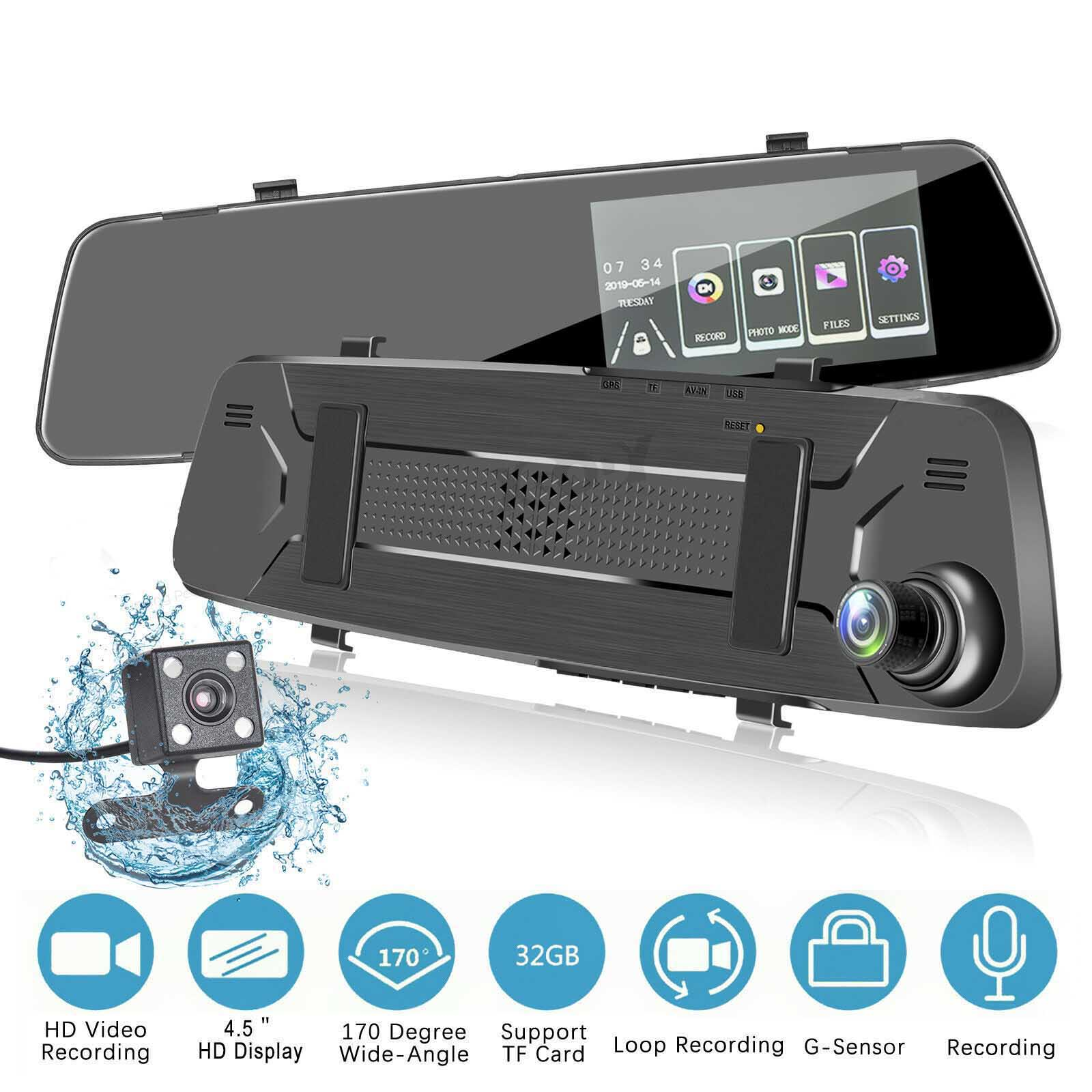 Car DVR Dash Cam HD 1080P IPS Touch Screen 4.5inch Car Dashboard DVR Camera Video Recorder Dashcam G-Sensor Car DVRs