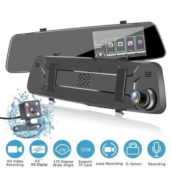 Wideorejestrator samochodowy kamera na deskę rozdzielczą HD 1080P ekran dotykowy IPS 4 5 cala deska rozdzielcza samochodu kamera DVR wideorejestrator Dashcam g-sensor wideorejestrator samochodowy s tanie i dobre opinie AKASO JIELI Przenośny rejestrator Klasa 10 universal 170° Samochód dvr 1920x1080 Wewnętrzny WIDOCZNOŚĆ W NOCY wodoodporne