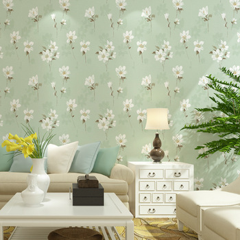 Romantic fresh Vintage American non-woven wallpaper garden large flower AB version DIY wedding room bedroom living room sofa TV background wall paper roll 3D modern fashion mold proof paysota vintage wood grain grey wallpaper bedroom living room sofa background wall paper roll