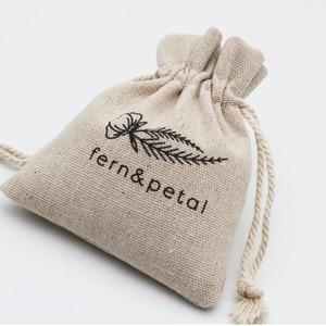 Image 5 - Подарочные пакеты из натурального льна, мешочки с джутовым шнурком для макияжа, ювелирных изделий, 8x11 см 9x12 см 10x15 см 13x17 см, упаковка из 50 индивидуальных логотипов