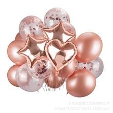 12-дюймовый розовое золото круглая бумага лист блесток набор воздушных шариков с конфетти декоративные воздушные шары на день рождения, фестиваль, декоративные украшения