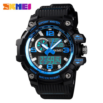 SKMEI Woman Men Quartz Digital Watch 3 Time Military Army Sport Watches Waterproof Wristwatch Relogio Masculino Feminino 1436 цена 2017