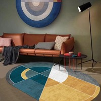 INS popular modern geometric floor mat , no hair easy care Special shaped home decorative printed area rug SALES