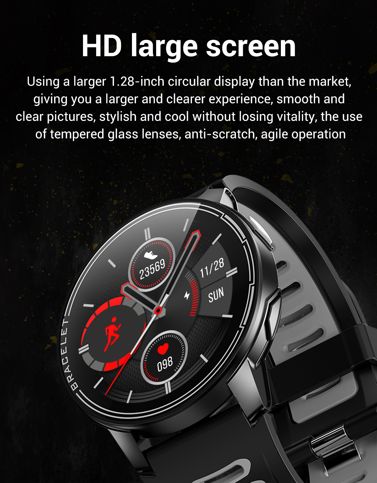 H8ff6558c186140cb94a9f8847965858dN 2020 New L6 Smart Watch IP68 Waterproof Sport Men Women Bluetooth Smartwatch Fitness Tracker Heart Rate Monitor For Android IOS