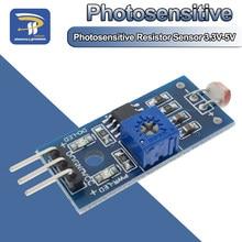 Módulo sensor fotossensível de resistência de brilho, intensidade de luz detectar módulo de resistor fotossensível para arduino kit diy