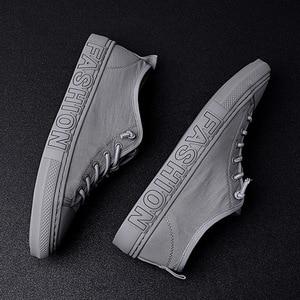 Image 3 - Summer Canvas Shoes Men Fashion Sneakers Hot Selling Vulcanized Canvas Shoes Tenis Feminino Plus Size 38 43 Gray Khaki