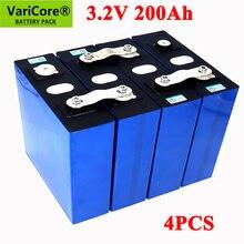 Uds VariCore 3,2 V 200Ah LiFePO4 de la batería de litio de 3,2 v 3C batería de fosfato de hierro de litio para 4S de la batería de 12V 24V yate solar RV