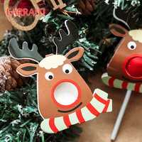 800PCS Christmas Candy Decoration Lollipop Decoration Card Reindeer Christmas Deer Paper Card Kids Party Favor Lollipop Candy