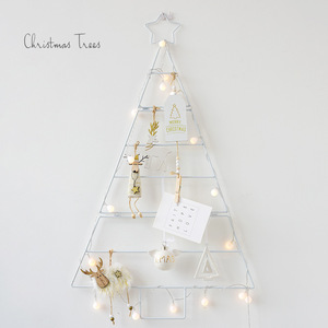 Image 2 - Nordic ins mini Gold white Christmas tree set home wall hanging diy stars Xmas decorations New year Kids Room decor supplies