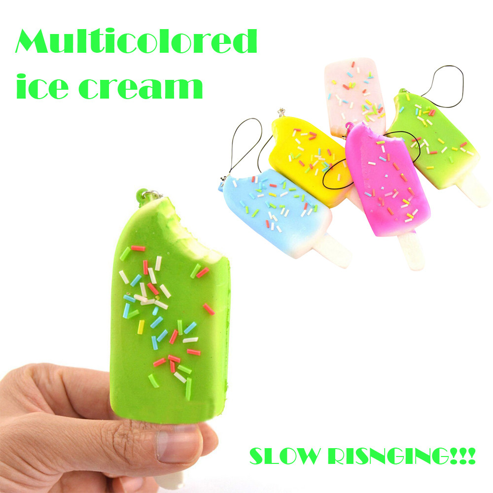 1PC Random Ice Cream Soft Scented Toys Antistress Funny Kids Toy Rising Squeeze Stress Reliever Collection Toys L0115